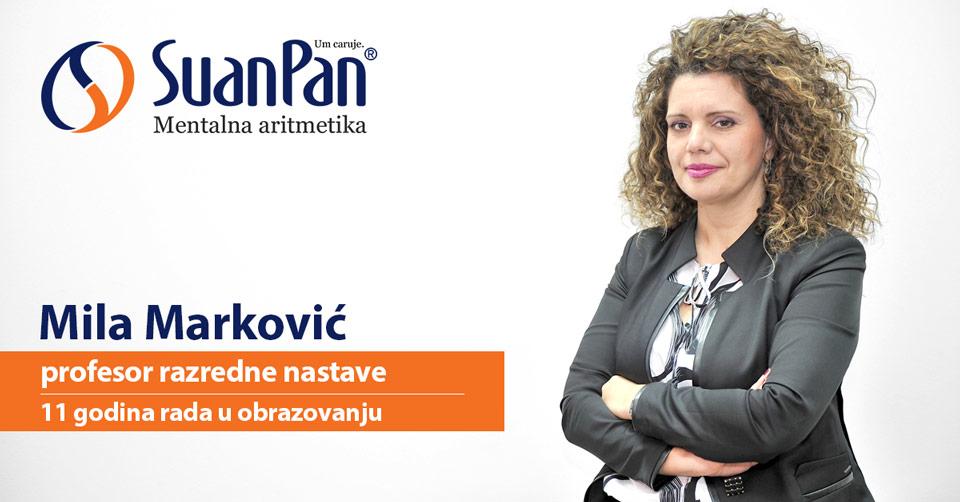 Predavač mentalne aritmetike Mila Marković