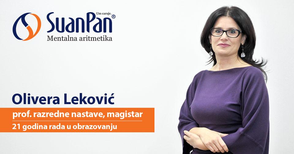Predavač mentalne aritmetike Olivera Leković