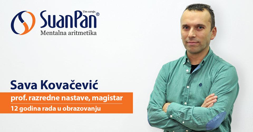Predavač mentalne aritmetike Sava Kovačević