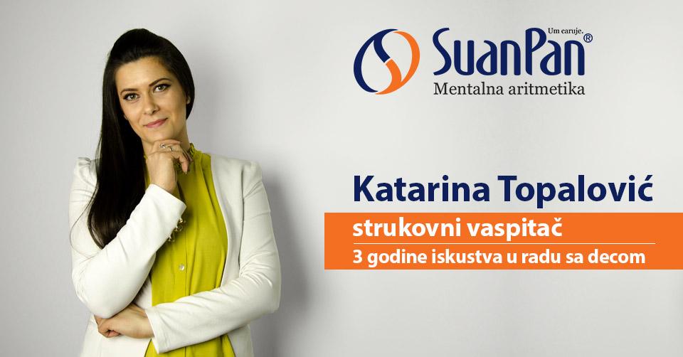 Predavač mentalne aritmetike Katarina Topalović