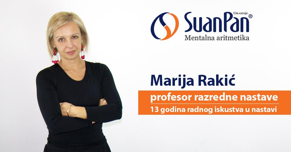 Predavač mentalne aritmetike Marija Rakić