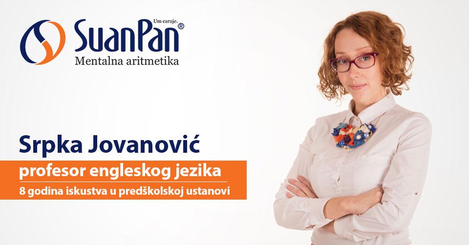 Predavač mentalne aritmetike Srpka Jovanović