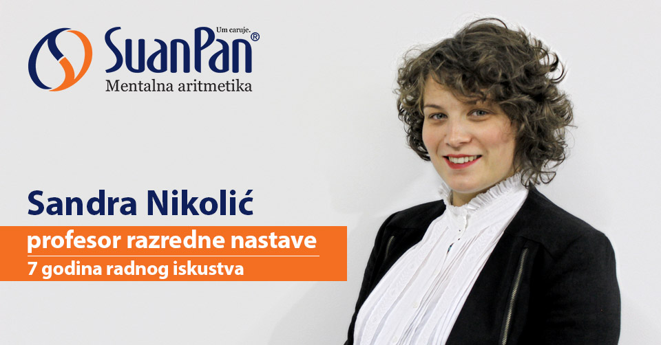 Predavač mentalne aritmetike Sandra Nikolić