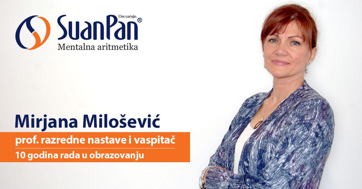 Predavač mentalne aritmetike Mirjana Milošević