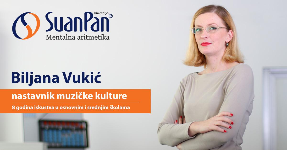 Predavač mentalne aritmetike Biljana Vukić