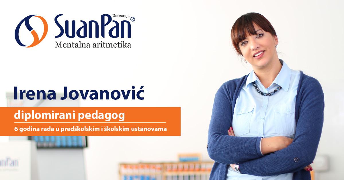 Predavač mentalne aritmetike Irena Jovanović