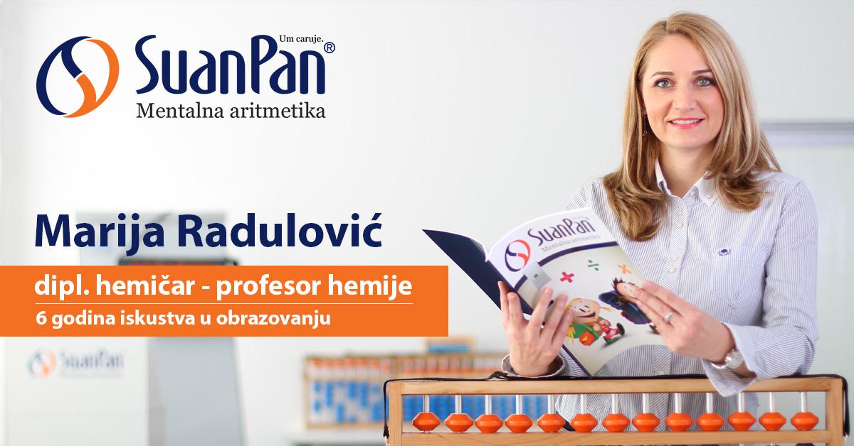 Predavač mentalne aritmetike Marija Radulović