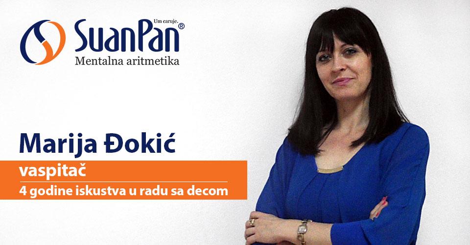 Predavač mentalne aritmetike Marija Đokić