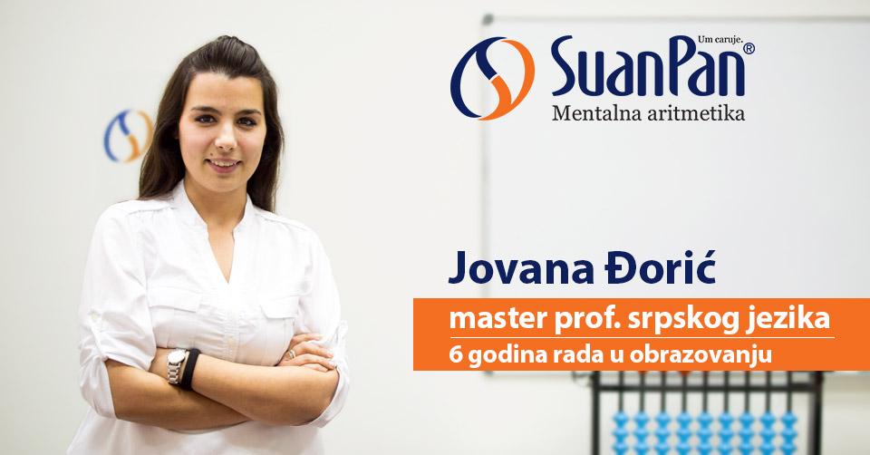 Predavač mentalne aritmetike Jovana Đorić