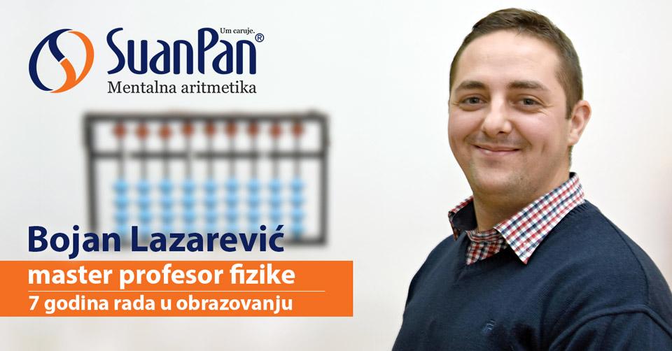 Predavač mentalne aritmetike Bojan Lazarević