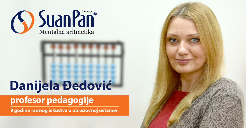 Predavač mentalne aritmetike Danijela Đedović