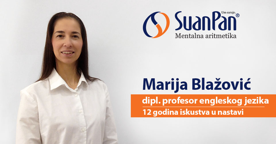 Predavač mentalne aritmetike Marija Blažović