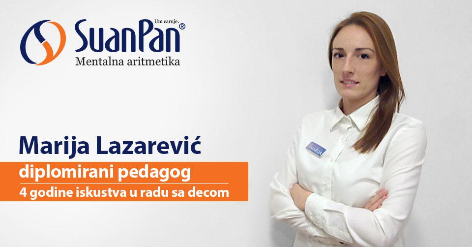 Predavač mentalne aritmetike Marija Lazarević