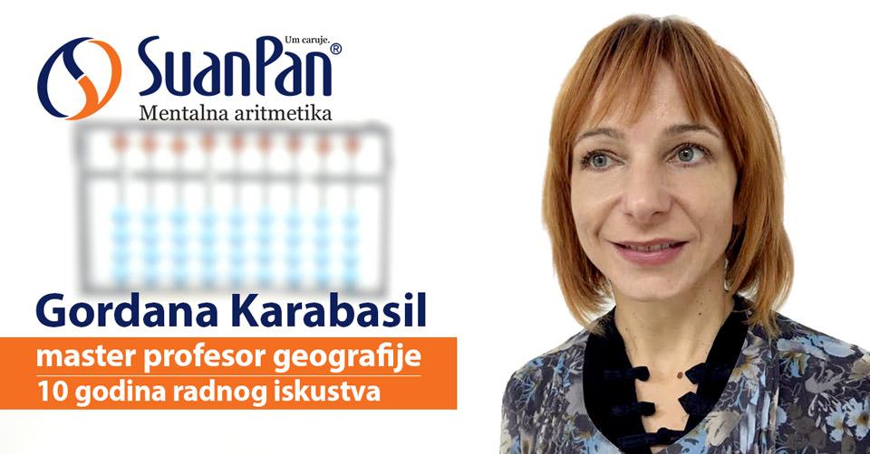 Predavač mentalne aritmetike Gordana Karabasil