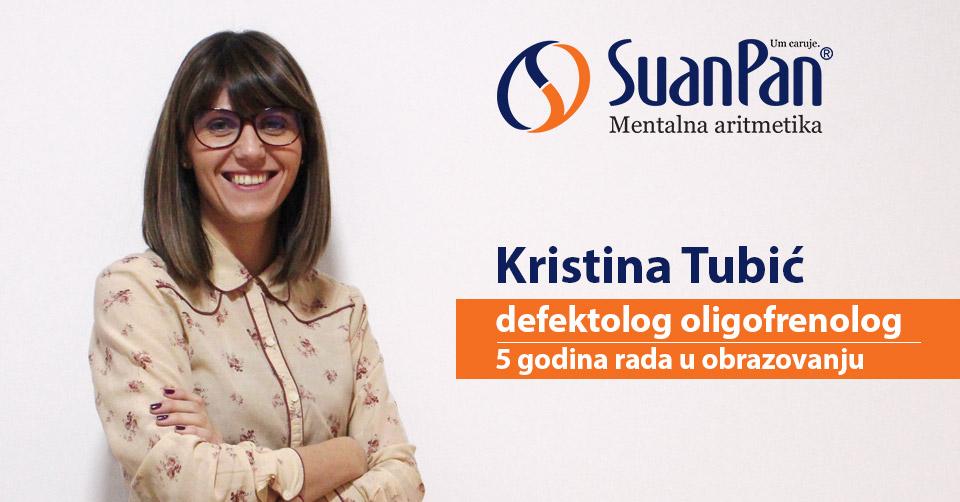 Predavač mentalne aritmetike Kristina Tubić