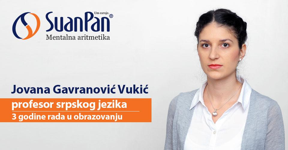 Predavač mentalne aritmetike SuanPan Jovana Gavranović Vukić
