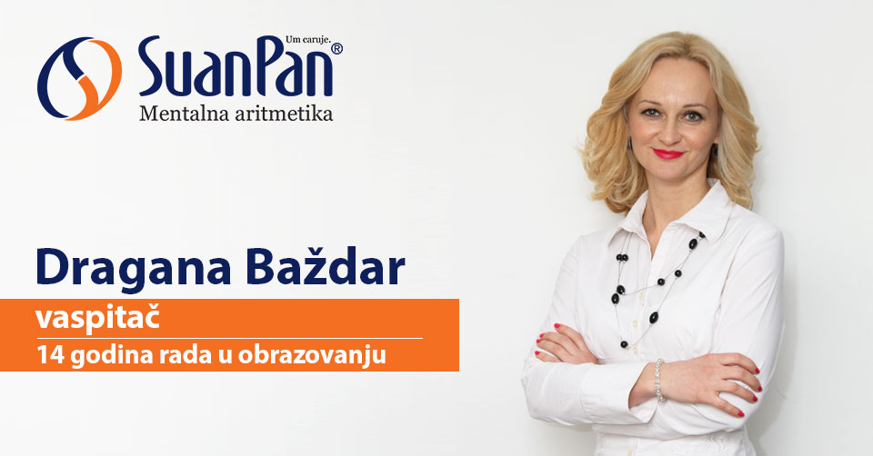 Predavač mentalne aritmetike Dragana Baždar