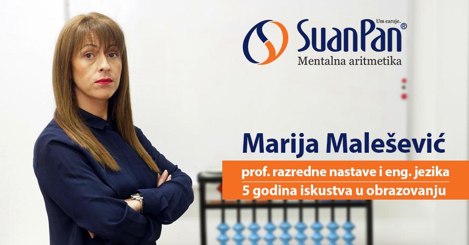Predavač mentalne aritmetike Marija Malešević
