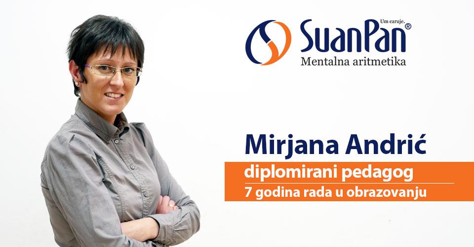 Predavač mentalne aritmetike Mirjana Andrić