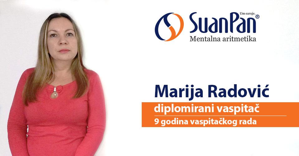 Predavač mentalne aritmetike Marija Radović