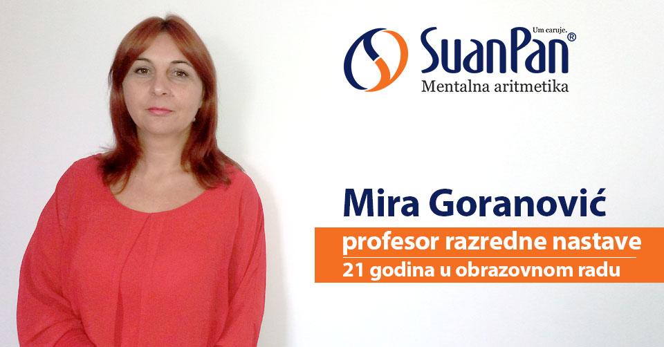 Predavač mentalne aritmetike Mira Goranović